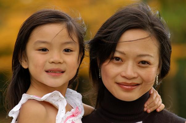 femme et fille Asie2