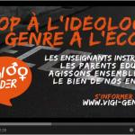 Stop à l'enseignement de la Théorie du Genre dans les écoles françaises